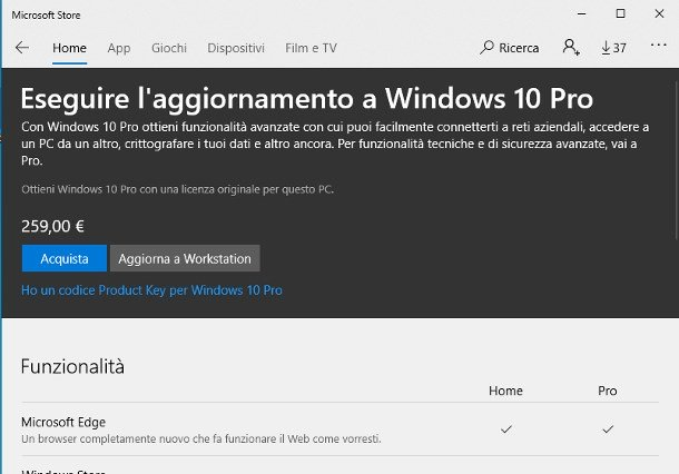 Actualizar Windows 10 a través de la licencia digital de Microsoft