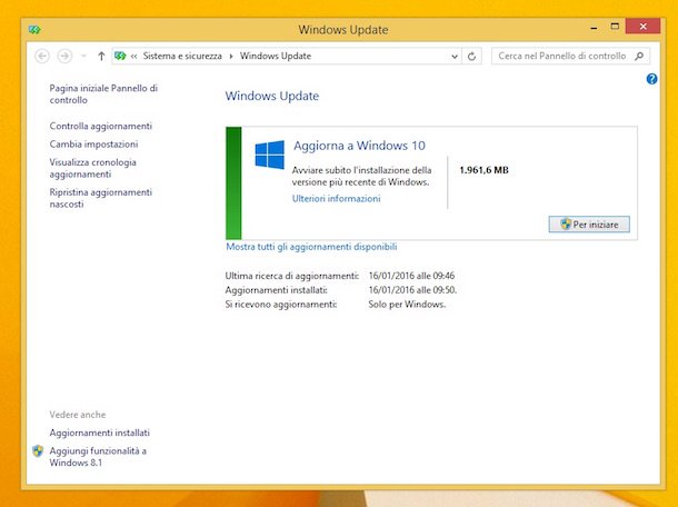 Captura de pantalla de Windows 8