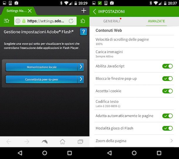 Flash Player por Android