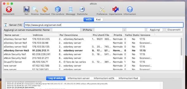 Cómo actualizar la lista de servidores de eMule
