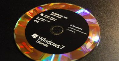 Foto del DVD di Windows 7
